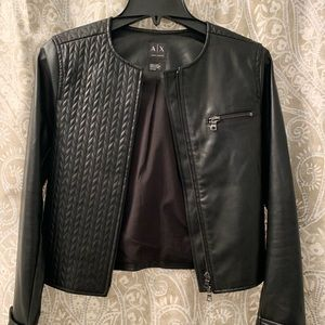 Armani Exchange faux leather jacket